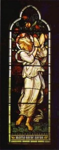 Sir Edward Burne-Jones 1833 – 189; stained glass window — 1872