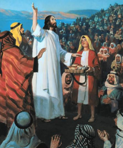 Jesus feeds multitude